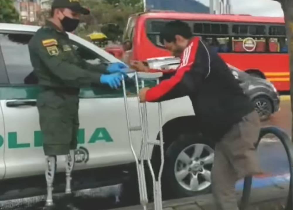 José Carvajal, un policía que da ejemplo con su bondad y fortaleza