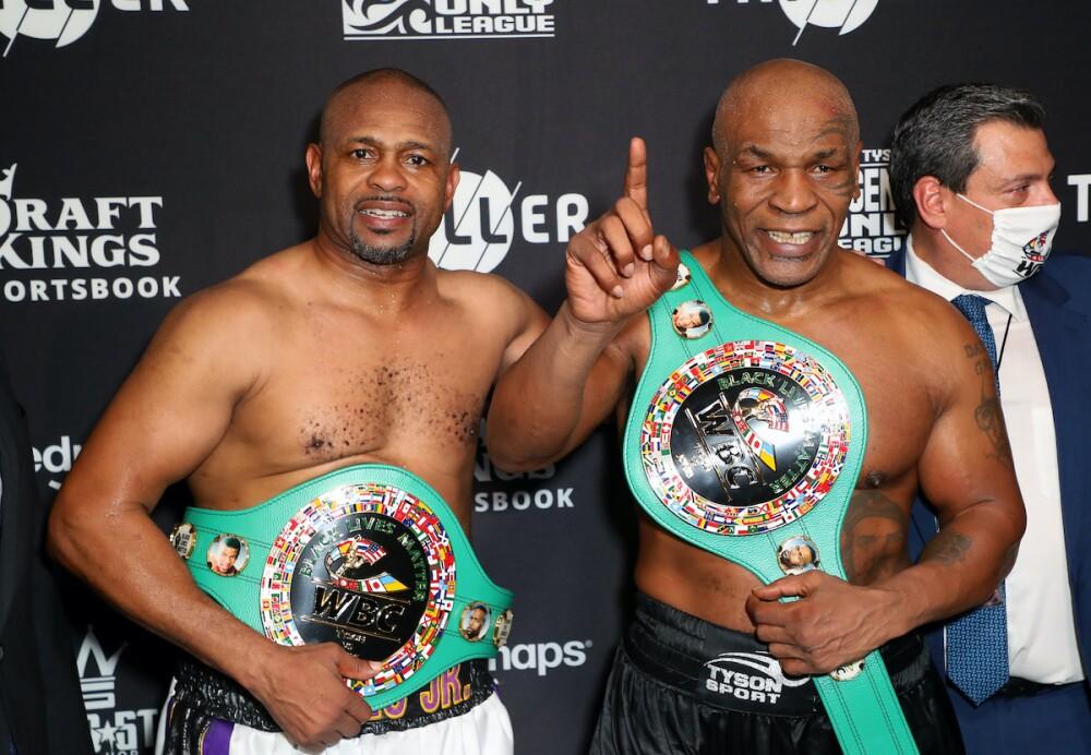 Roy Jones Jr y Mike Tyson / AFP