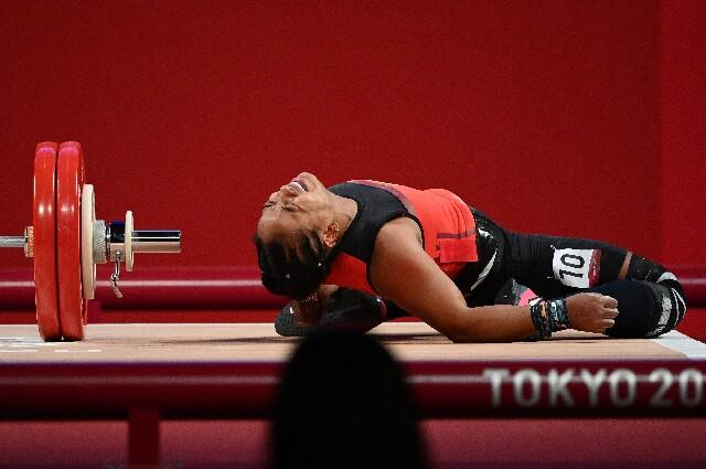 Mercedes Pérez fue cuarta en la categoría de los 64 kilógramos del levantamiento de pesas de los Juegos Olímpicos.