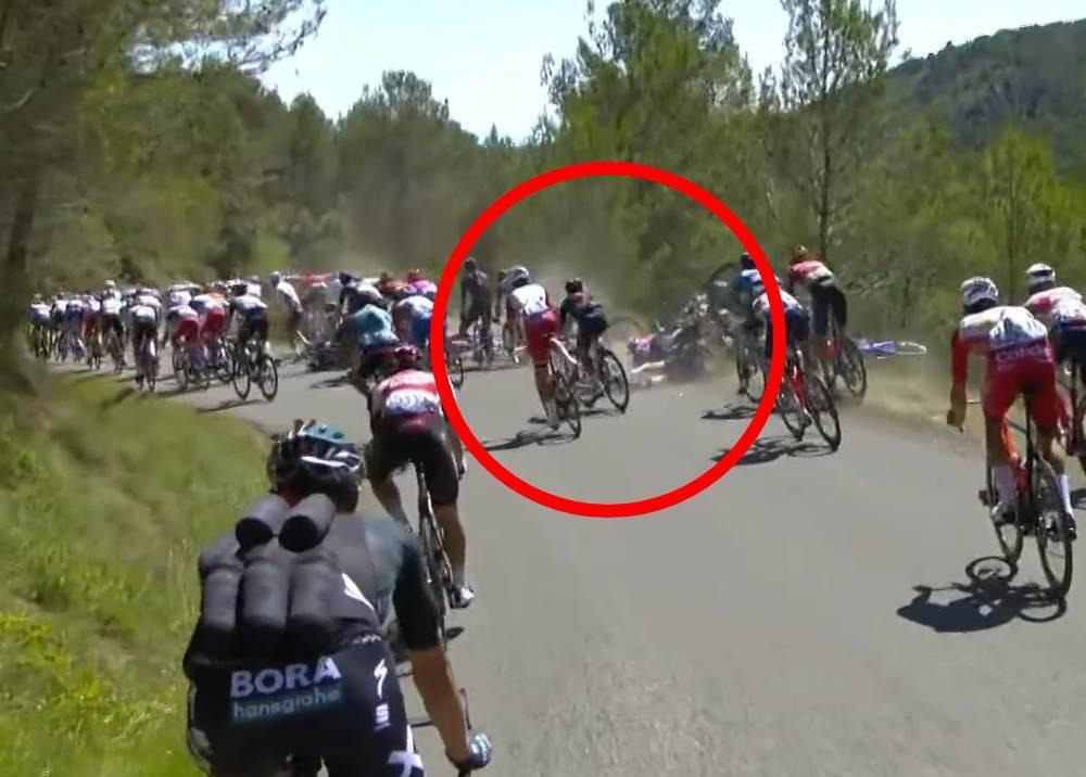 Caída de masiva en el Tour de Francia