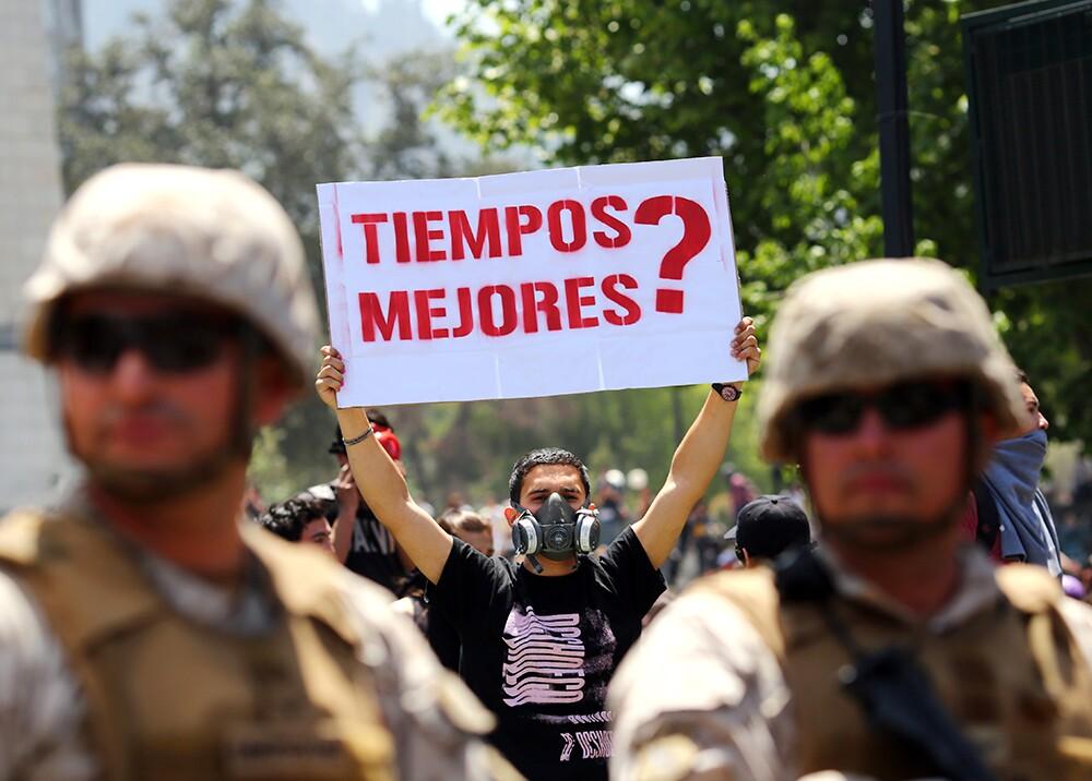 346811_Protestas en Chile // Foto: AFP