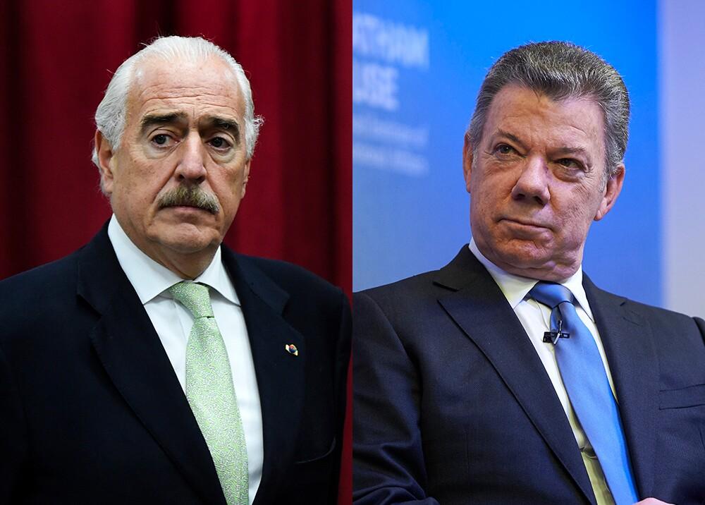 349612_Andrés Pastrana y Juan Manuel Santos // Foto: AFP