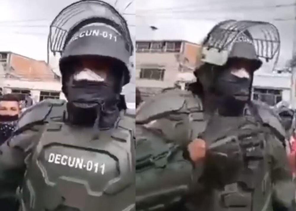 Agente del Esmad pide paz.jpg