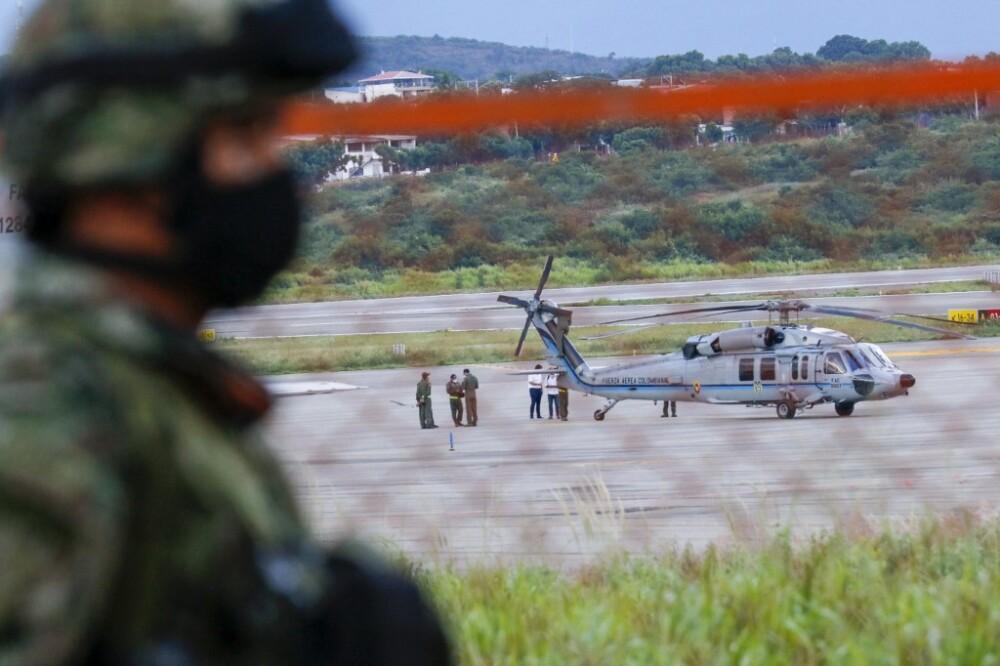 Atentado contra helicóptero presidencial