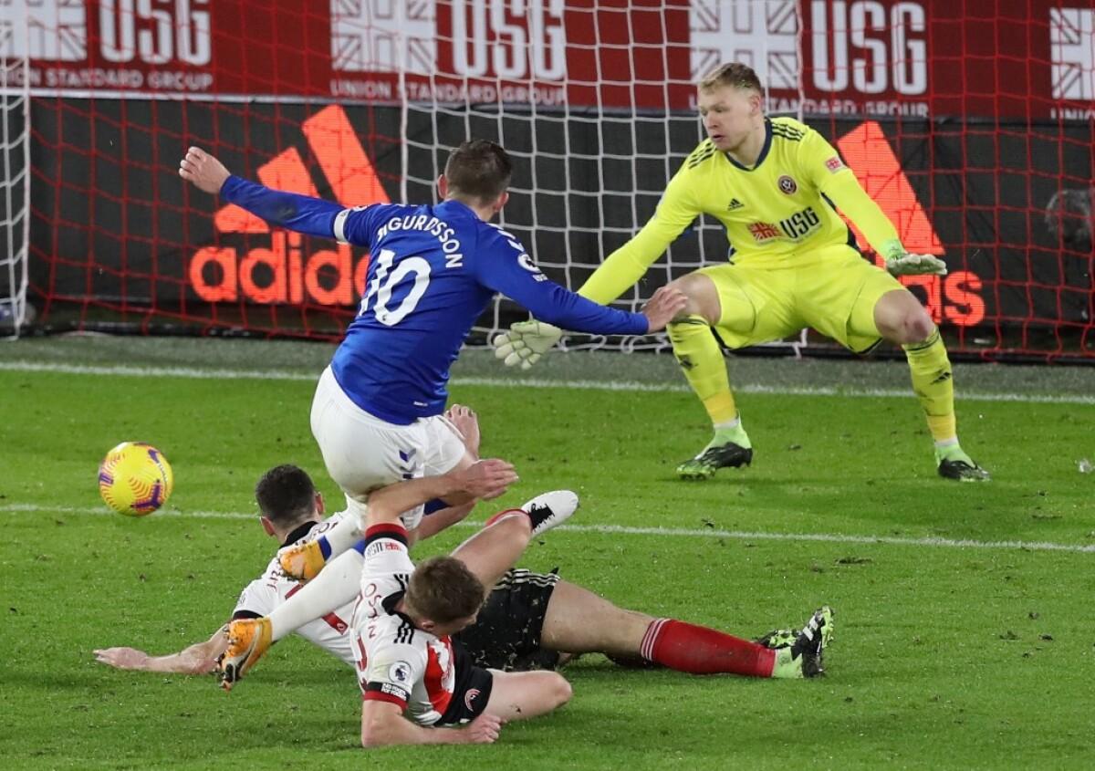 Vea el gol de Gylfi Sigurdsson hoy Sheffield United vs Everton en la  Premier League