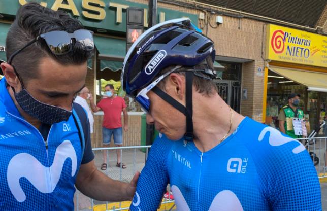 Miguel Ángel López sufrió un golpe en la mano tras caída en la etapa 5 de la Vuelta a España