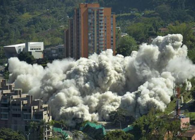 Implosión del edificio Space