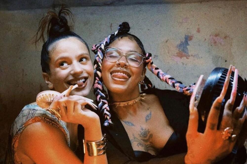 Rosalía y Tokischa en el set del video 'Linda'