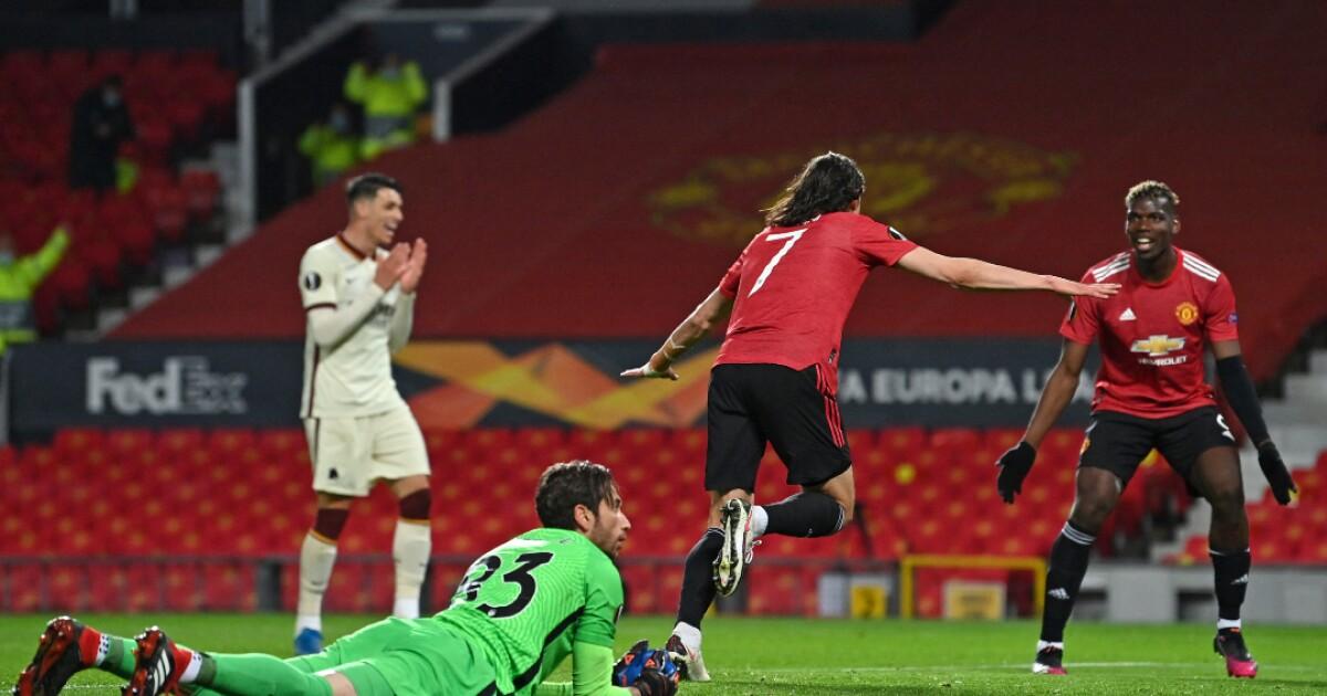 Un inspirado Edinson Cavani pone a Manchester United cerca de la final: goleó 6-2 a Roma
