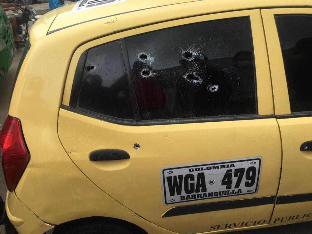Taxi baleado