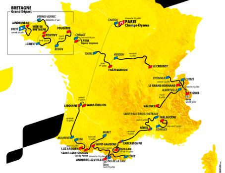 Así será el Tour de Francia 2021.
