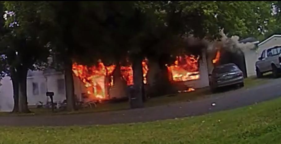 Incendio registrado por el Departamento de Policía de Columbia