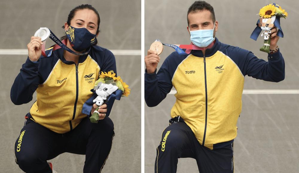 Mariana Pajón y Carlos Ramírez sumaron las medallas 31 y 32 de Colombia en la historia de los Juegos Olímpicos.