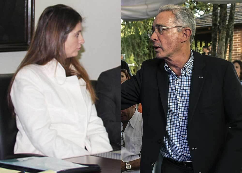 309319_Blu Radio. Paloma Valencia - Álvaro Uribe. Foto: MinInterior y AFP