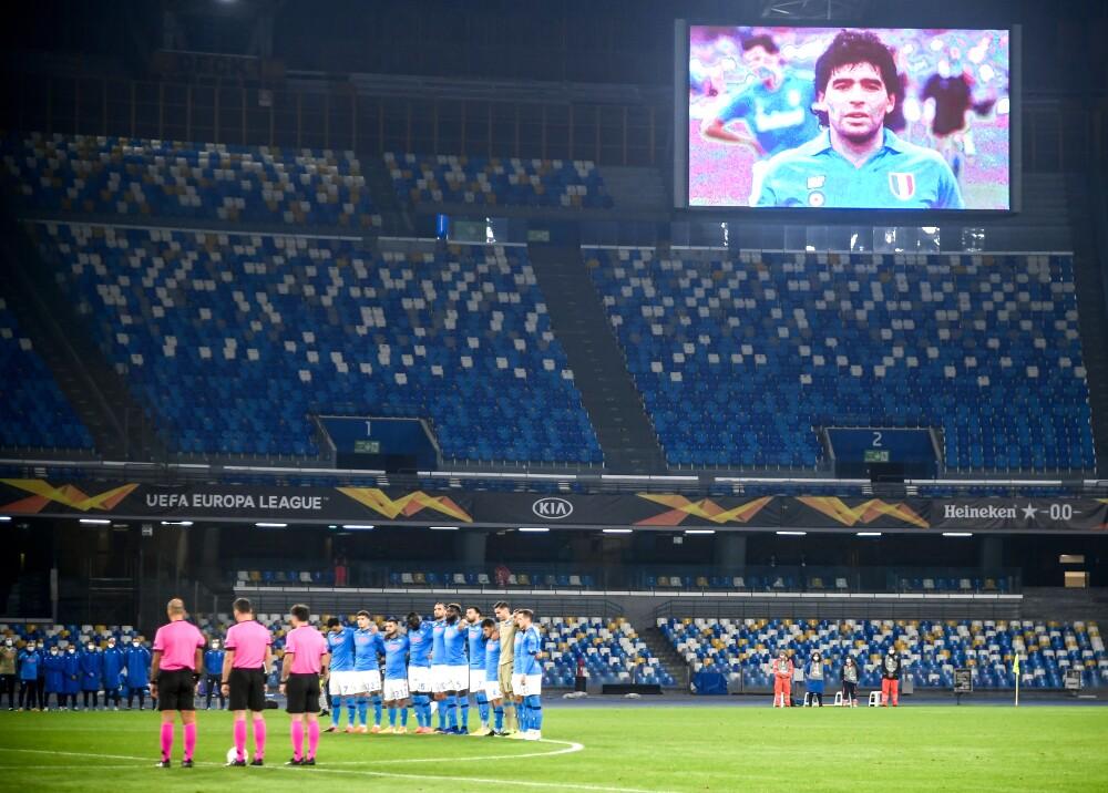 Napoli homenaje a Maradona AFP.jpg