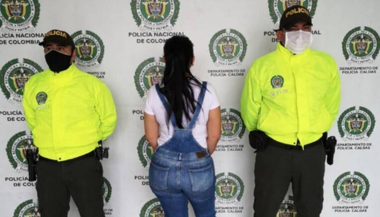 Mujer capturada en Chinchiná, Caldas