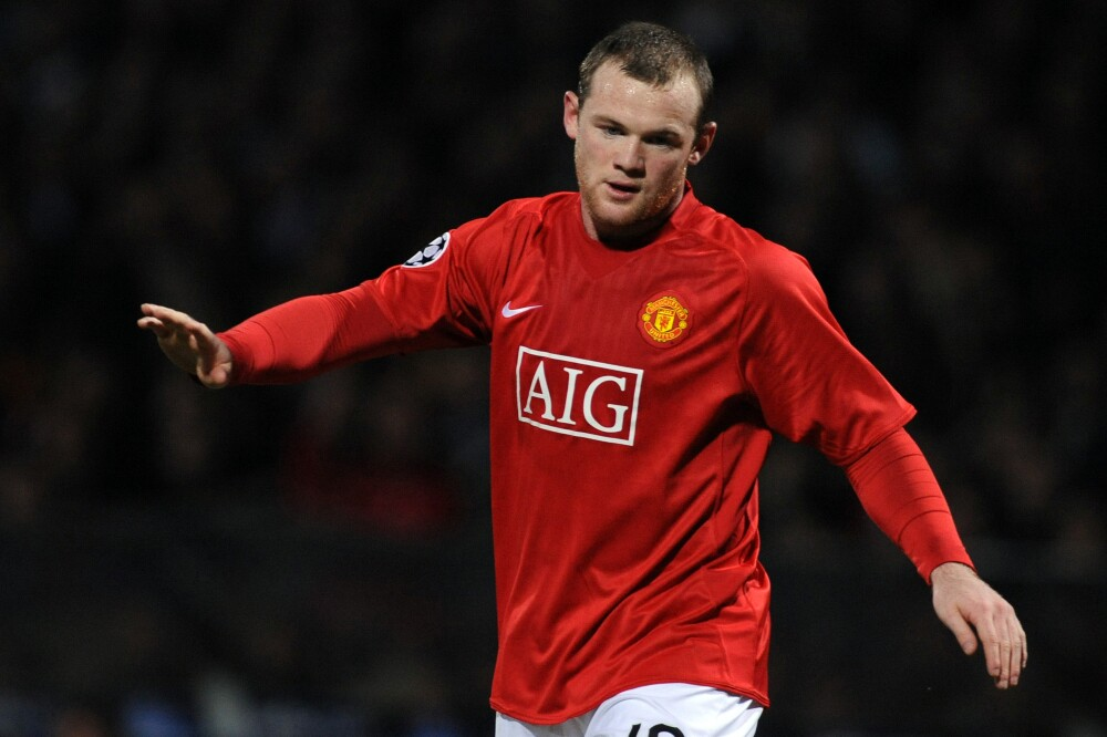 Wayne Rooney, en Manchester United