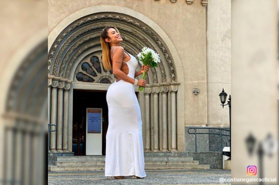 Cris Galêra, modelo que se casó con ella misma