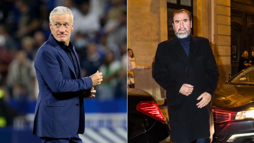 Didier Deschamps y Eric Cantona