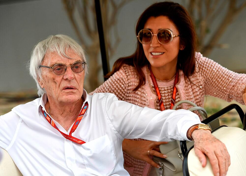 369579_Bernie Ecclestone y Fabiana Flosi // Foto: AFP