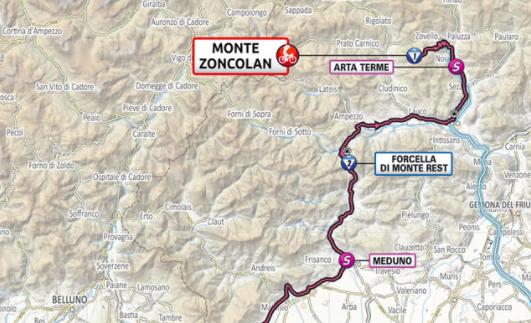 Así será la etapa 13 del Giro de Italia 2021.