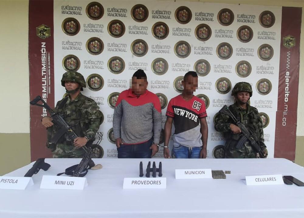 353747_Capturan a hombres acusados de decapitar a dos personas en Tarazá / Foto: Ejército