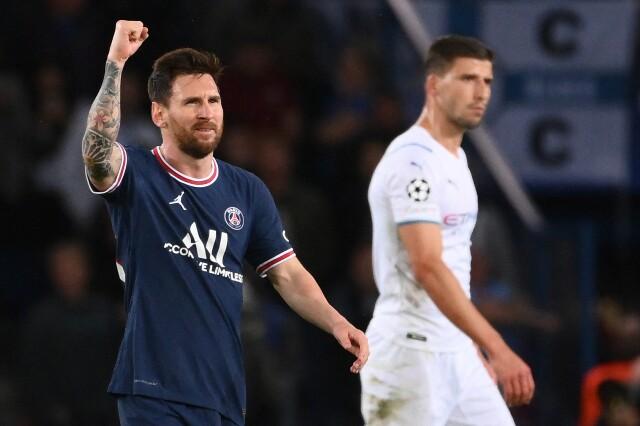 Celebración de Lionel Messi, tras su gol con PSG contra Manchester City