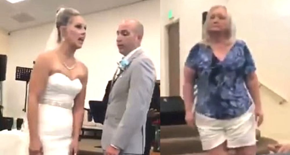 Novia y suegra se pelearon en plena boda