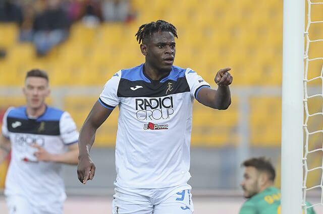 331883_Celebración de Duván Zapata en partido Lecce vs Atalanta, Serie A