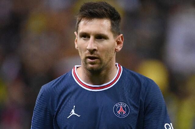 Lionel Messi, en Reims vs. PSG, por la Ligue 1