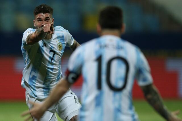 Gol de Argentina contra Ecuador