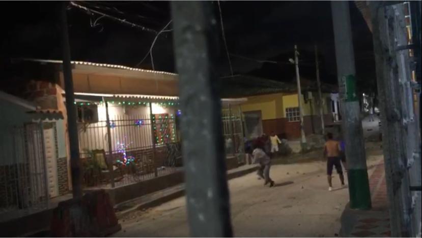 Riña en Rebolo, sur de Barranquilla