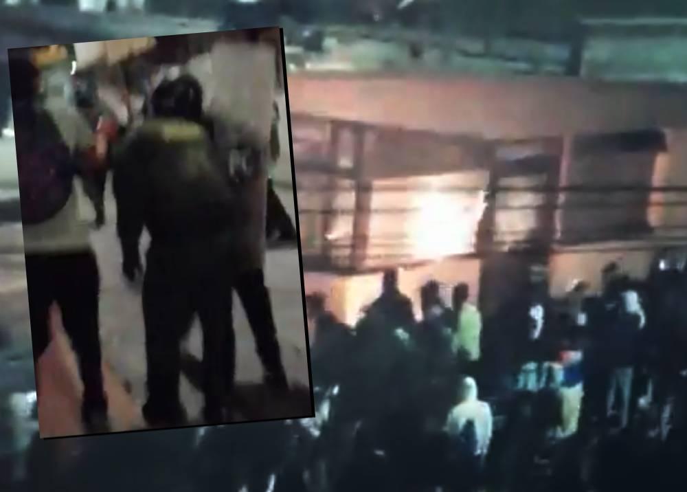Noche de violencia en Bogotá