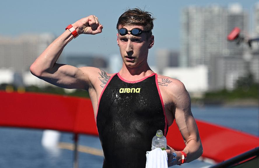 Florian Wellbrock se quedó con el oro de los 10 km aguas abiertas de los Juegos Olímpicos Tokio 2020.