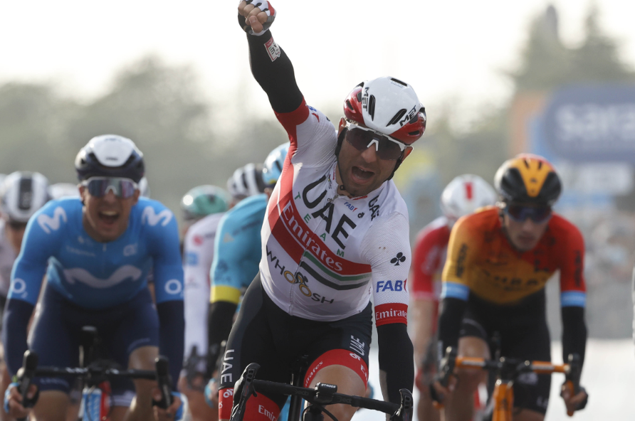 Diego Ulissi, ganador de la etapa 13 del Giro de Italia.