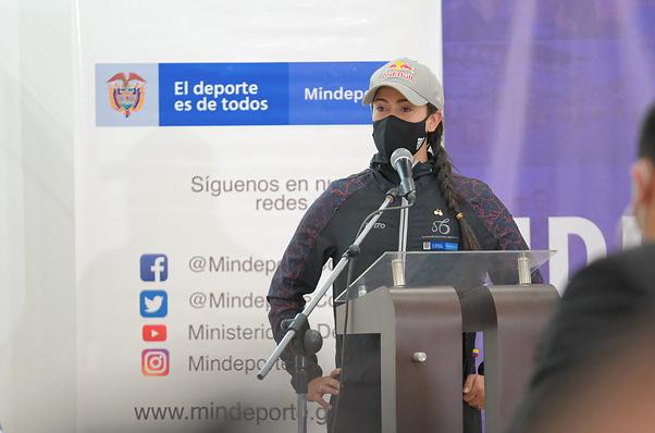 Mariana Pajón se ilusiona con la Copa Mundo de BMX en Bogotá.