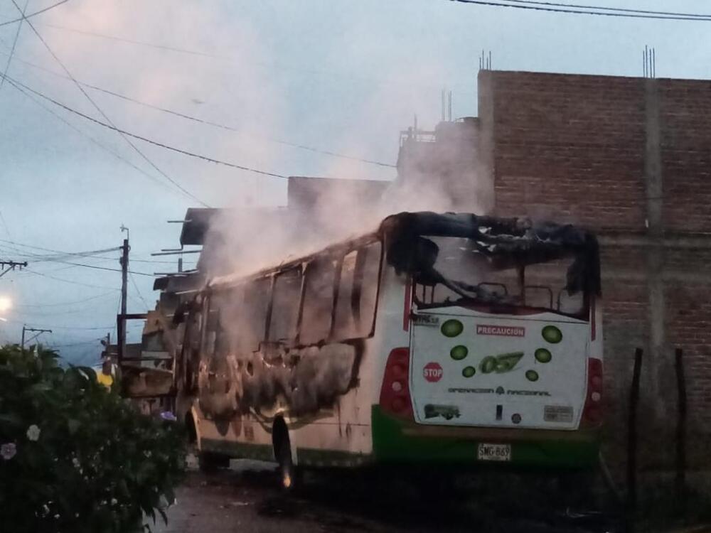 Incendio de bus en Florida, Valle del Cauca