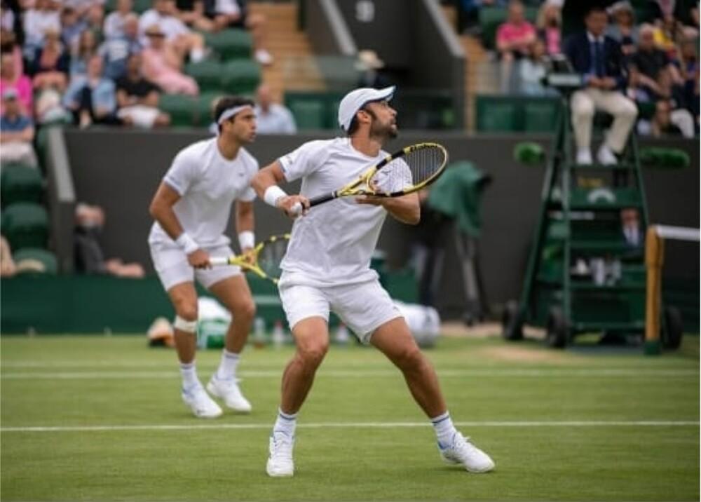 Robert Farah y Juan Sebastián Cabal en Wimbledon Foto Instagram Cabal.