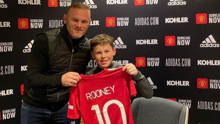 Wayne Rooney y su hijo Kai - Manchester United