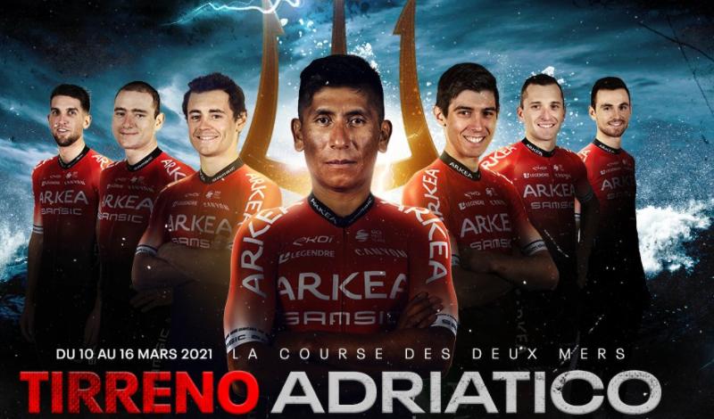 Nairo Quintana comandará al Arkea en la Tirreno-Adriático
