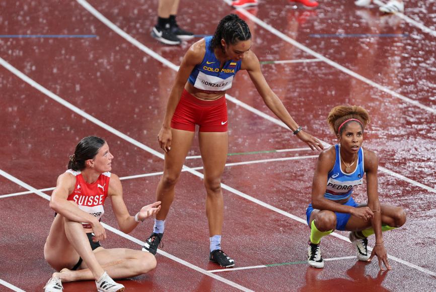 Melissa González fue eliminada en la semifinal de los 400 metros vallas de los Juegos Olímpicos Tokio 2020.