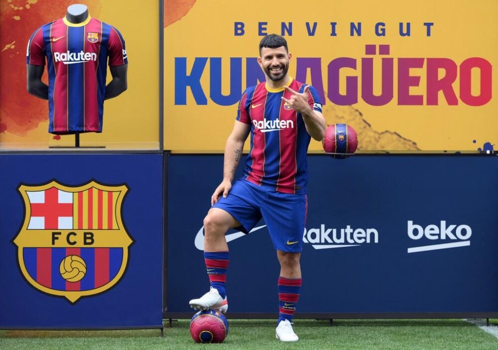 Sergio 'Kun' Agüero en el Barcelona. Foto AFP