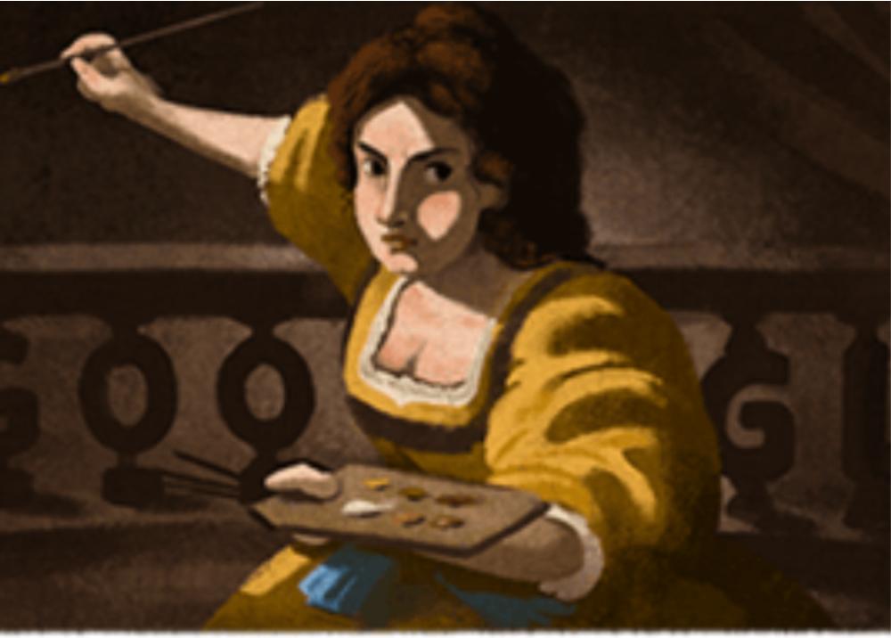 370295_Artemisia Gentileschi, la artista homenajeada en el doodle de Google - Imagen tomada de Google