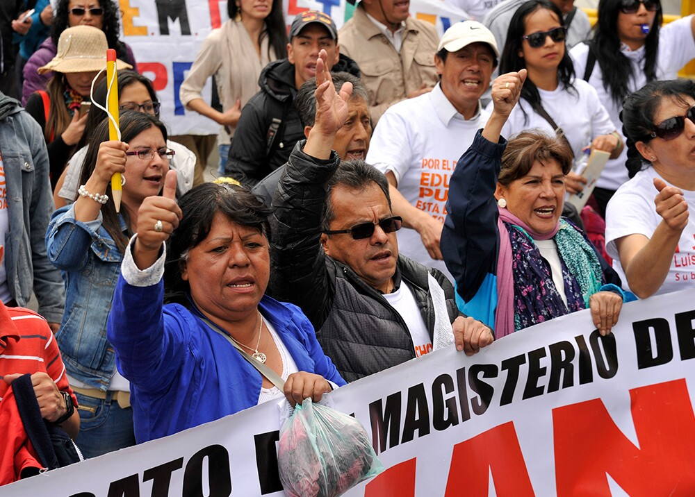 346040_Marchas profesores // Foto: AFP