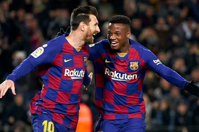 Lionel Messi y Ansu Fati compartieron en el Fútbol Club Barcelona