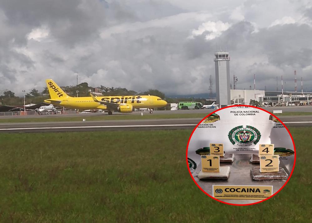 Cocaína en vuelo directo desde Bucaramanga a Estados Unidos