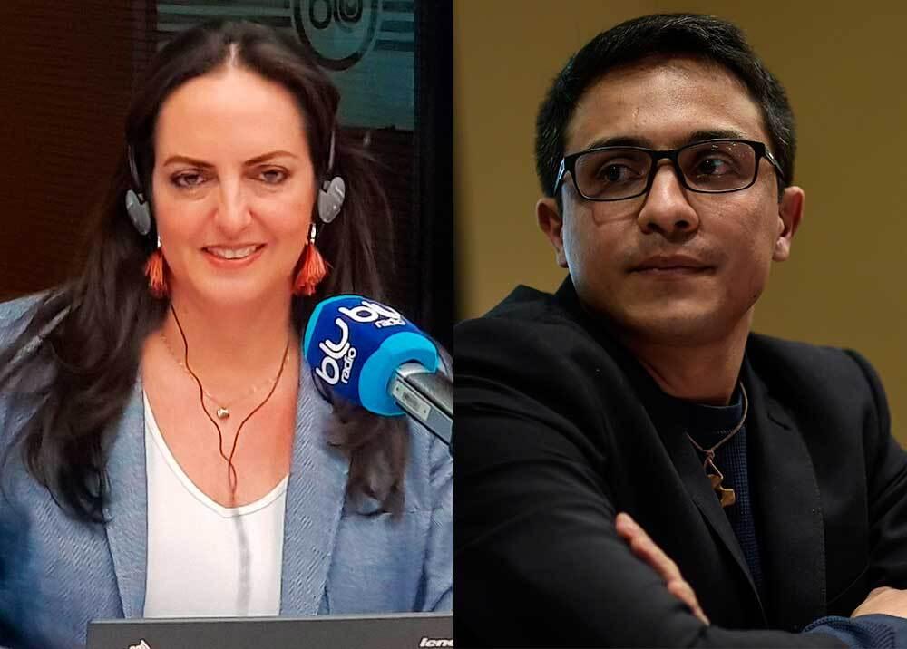 328600_BLU Radio. María Fernanda Cabal intercedió en procedimiento policial con Lorent Saleh - Fotos. AFP y BLU Radio