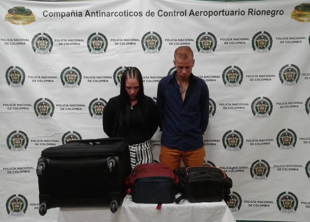 335608_BLU Radio. Capturan a pareja de recién casados que portaban cocaína / Foto: Policía