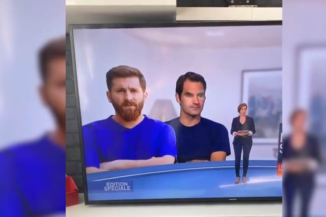 333797_Canal francés coloca una foto del doble de Messi en el Video Wall por error