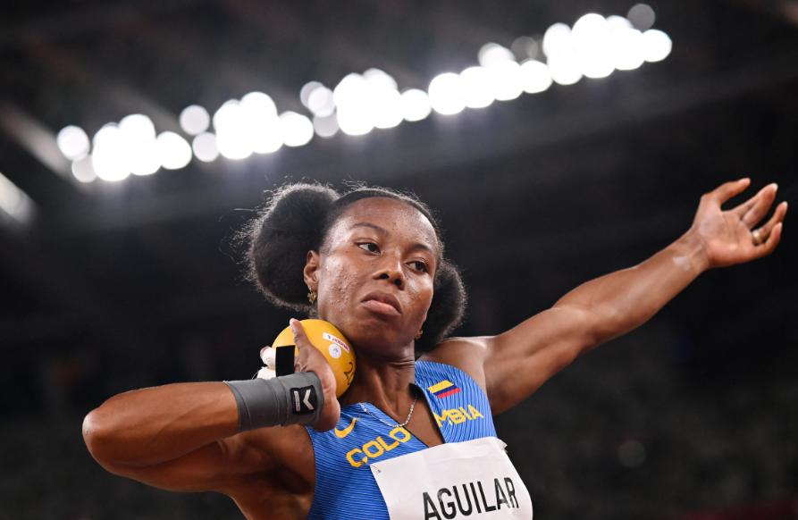 Evelis Aguilar marcha en el puesto 21 del heptatlón de los Juegos Olímpicos Tokio 2020.